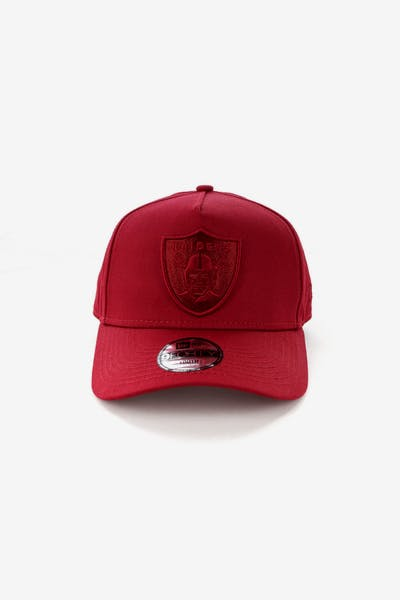 New Era Youth Raiders 9FORTY A-Frame Strapback Crimson
