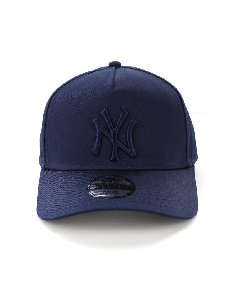 New Era Youth New York Yankees 9FORTY A-Frame Strapback Teal