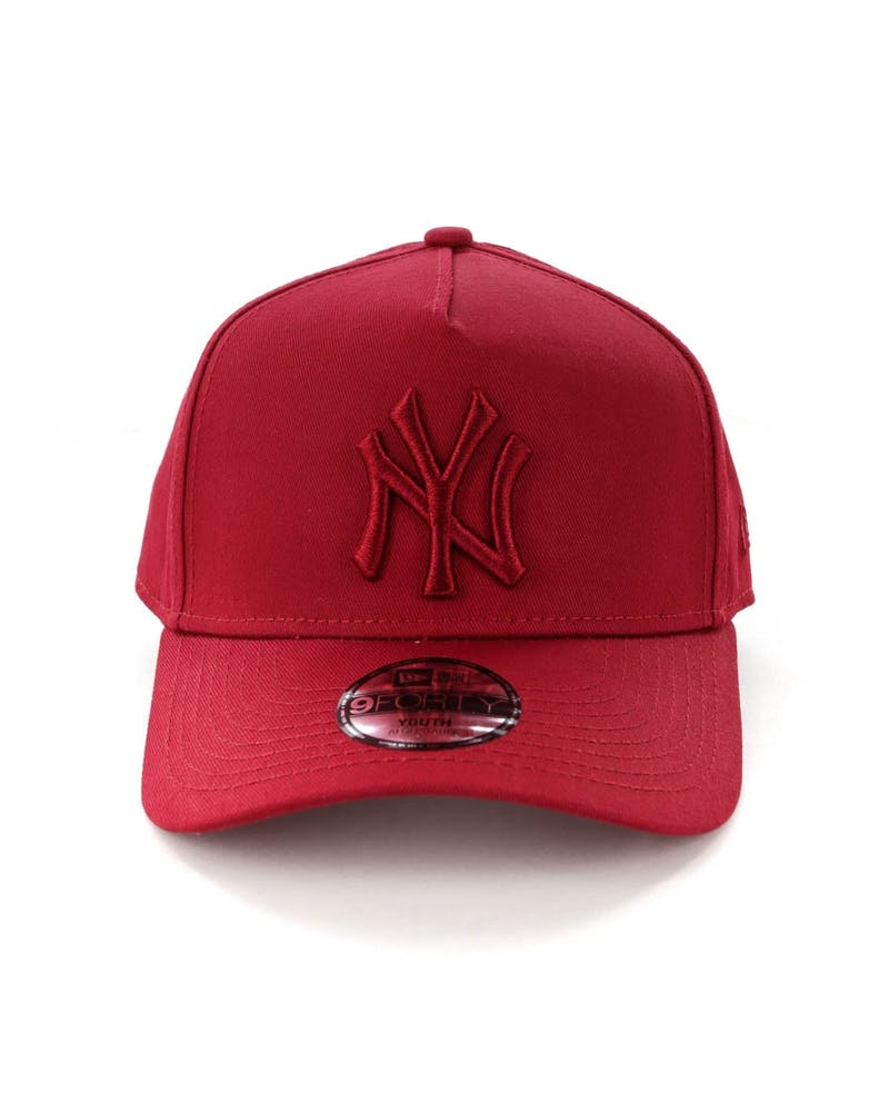 New Era Youth New York Yankees 9FORTY A-Frame Strapback Crimson