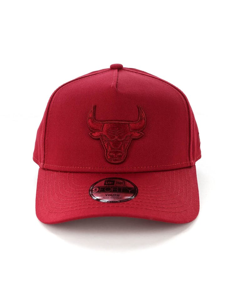 f20899c9d76f69 New Era Youth Chicago Bulls 9FORTY A-Frame Strapback Crimson – Culture Kings