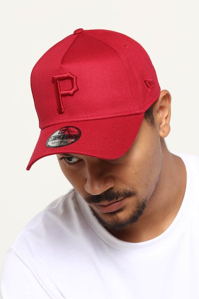 NEW ERA PITTSBURGH PIRATES 9FORTY A-FRAME SNAPBACK CRIMSON