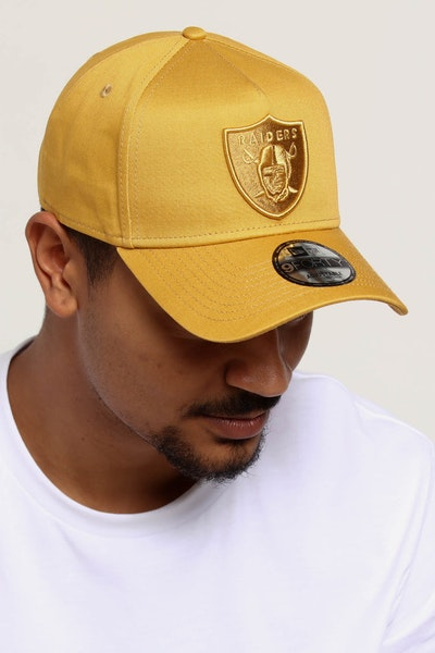 NEW ERA RAIDERS 9FORTY A-FRAME SNAPBACK GOLD