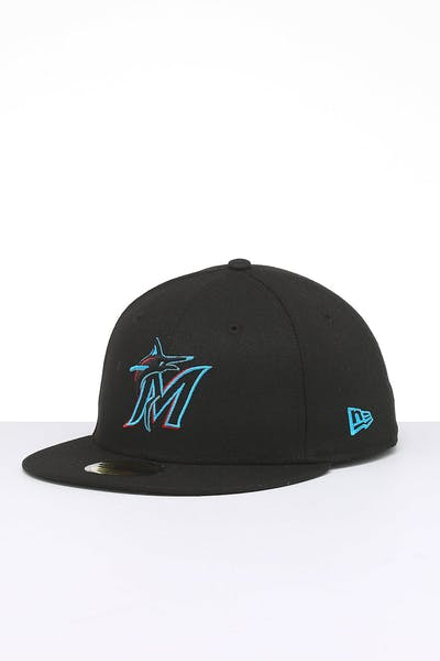 New Era Miami Marlins 59FIFTY Fitted Black/OTC