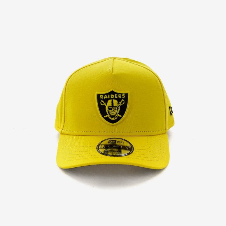 5f002b32af2 New Era Toddlers Raiders 9FORTY A-Frame Snapback Yellow Black – Culture  Kings