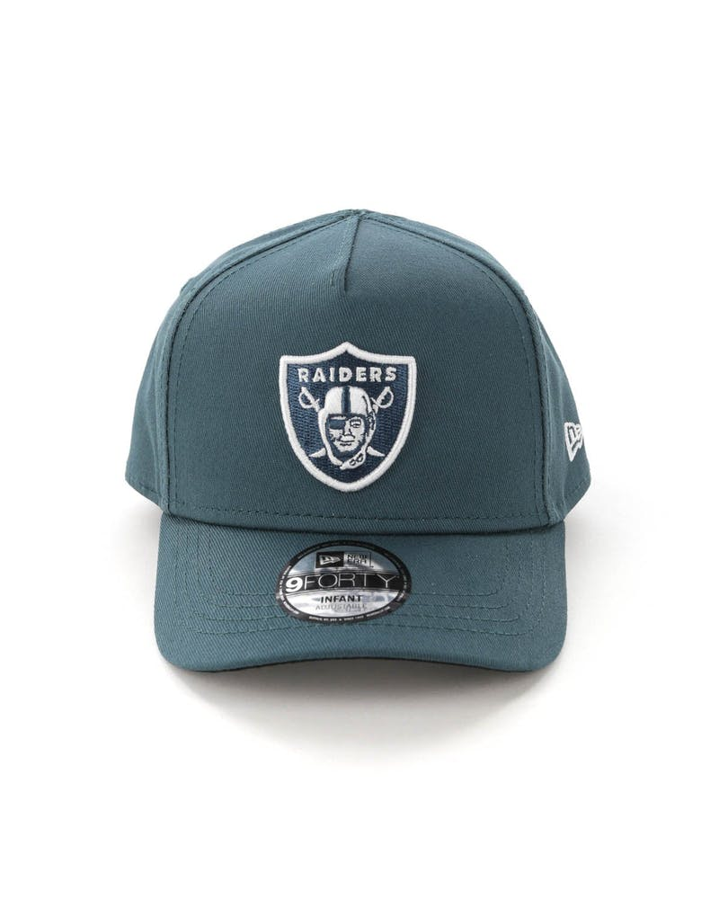 New Era Infants Raiders 9FORTY A-Frame Snapback Blue Spruce
