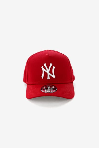 New Era Toddlers New York Yankees 9FORTY A-Frame Snapback Scarlet 73f3f24fe704