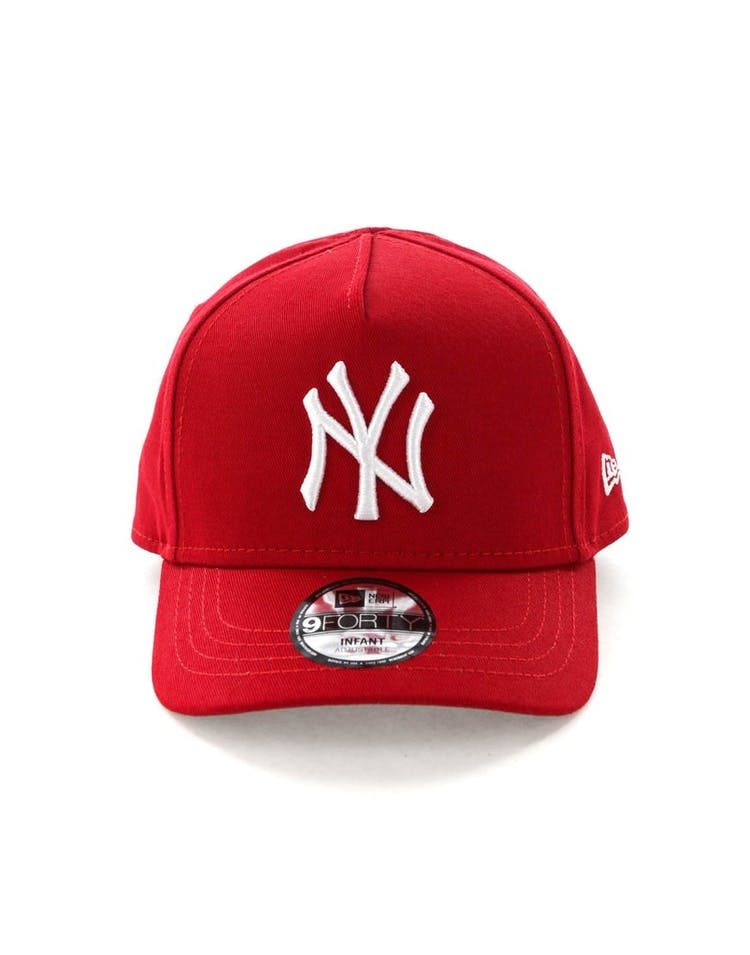 0c2790fde2e9 New Era Infant New York Yankees 9FORTY A-Frame Snapback Scarlet