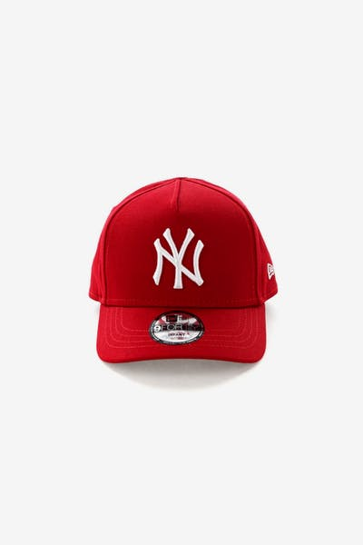 New Era Infant New York Yankees 9FORTY A-Frame Snapback Scarlet 565d85280b6