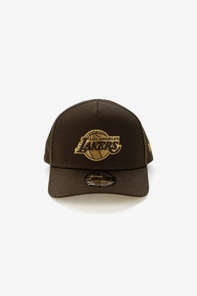 New Era Toddlers Los Angeles Lakers 9FORTY A-Frame Snapback Walnut Tan f85ed5880b7
