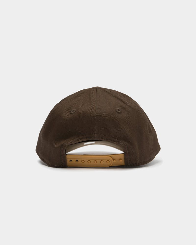 New Era Infants Los Angeles Lakers 9FORTY A-Frame Snapback Walnut/Tan
