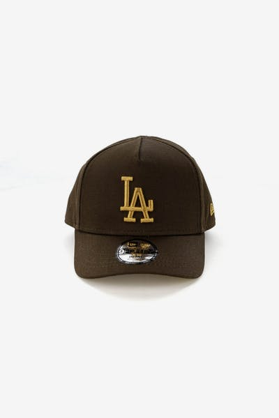 New Era Infants Los Angeles Dodgers 9FORTY A-Frame Snapback Walnut Tan 1f0ac3bd64b1f