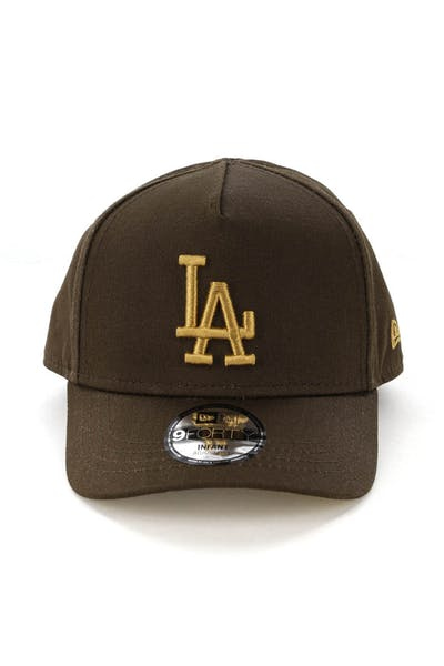New Era Infants Los Angeles Dodgers 9FORTY A-Frame Snapback Walnut/Tan