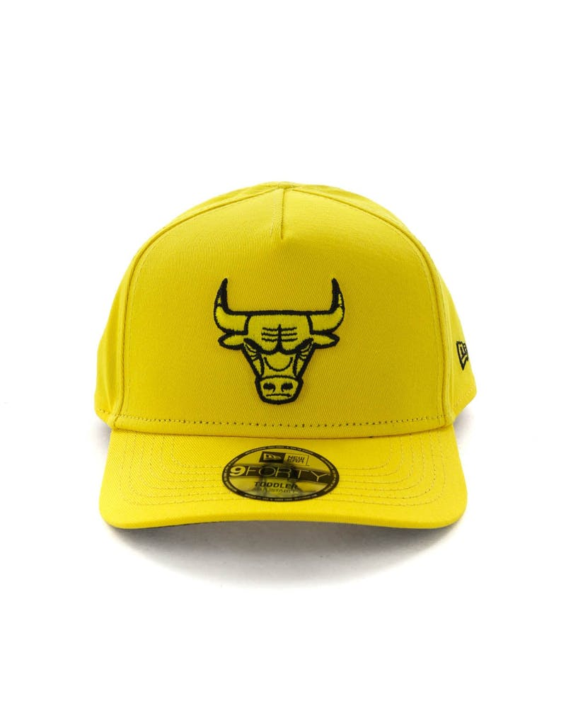 New Era Toddlers Chicago Bulls 9FORTY A-Frame Snapback Yellow/Black