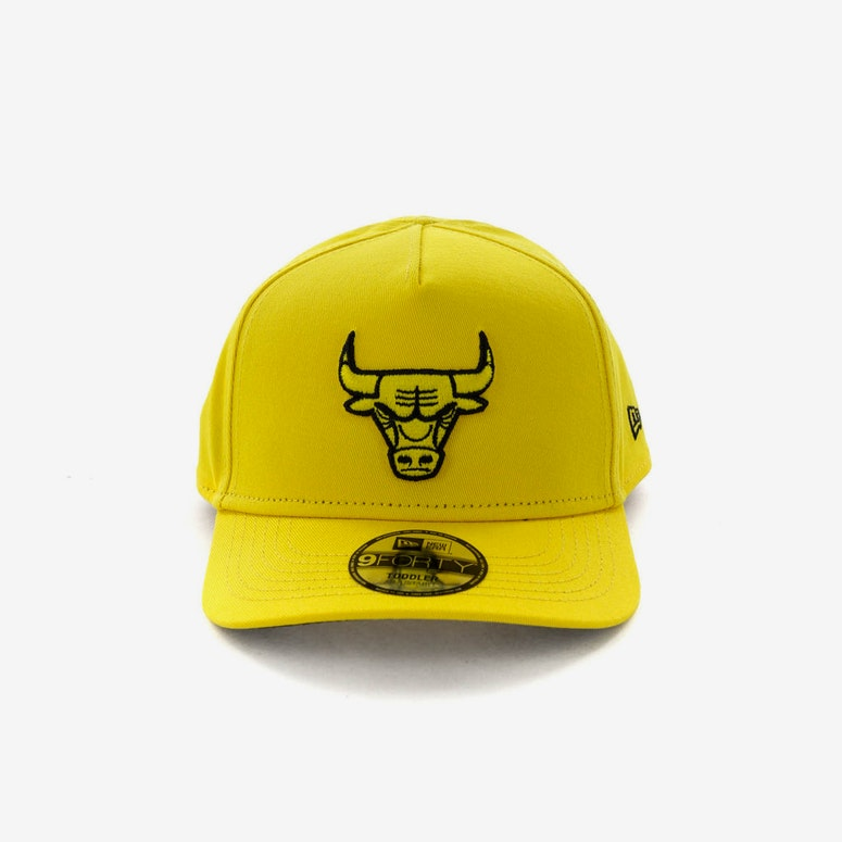 New Era Toddlers Chicago Bulls 9FORTY A-Frame Snapback Yellow Black – Culture  Kings 16059b8d350d