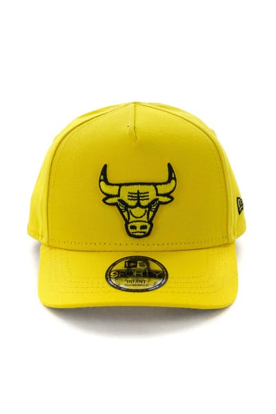 52103892c71 New Era Infant Chicago Bulls 9FORTY A-Frame Snapback Yellow Black