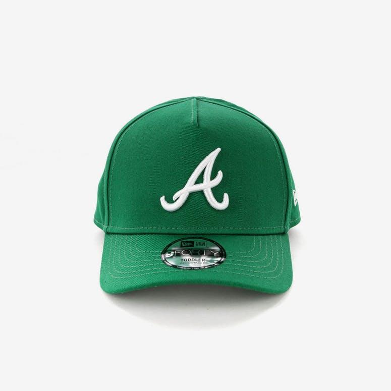 cf30ca63f70 New Era Toddlers Atlanta Braves 9FORTY A-Frame Snapback Emerald Green – Culture  Kings