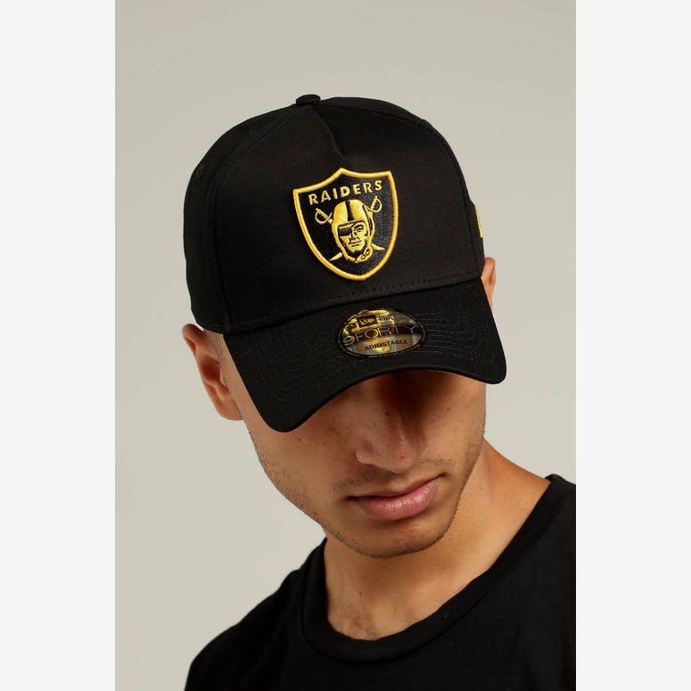2cf86274b8a New Era Raiders 9FORTY A-Frame Snapback Black Yellow – Culture Kings