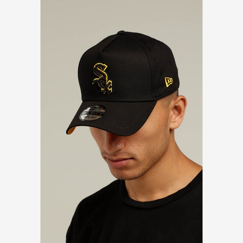 New Era Chicago White Sox 9FORTY A-Frame Snapback Black Yellow – Culture  Kings d2a1e291fdc1