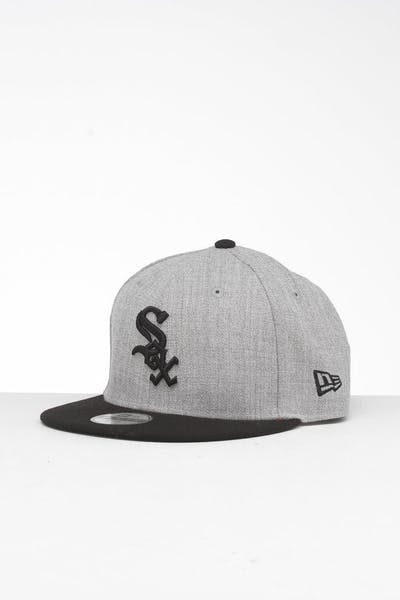 New Era Youth Chicago White Sox 9FIFTY Snapback Heather Grey/Black