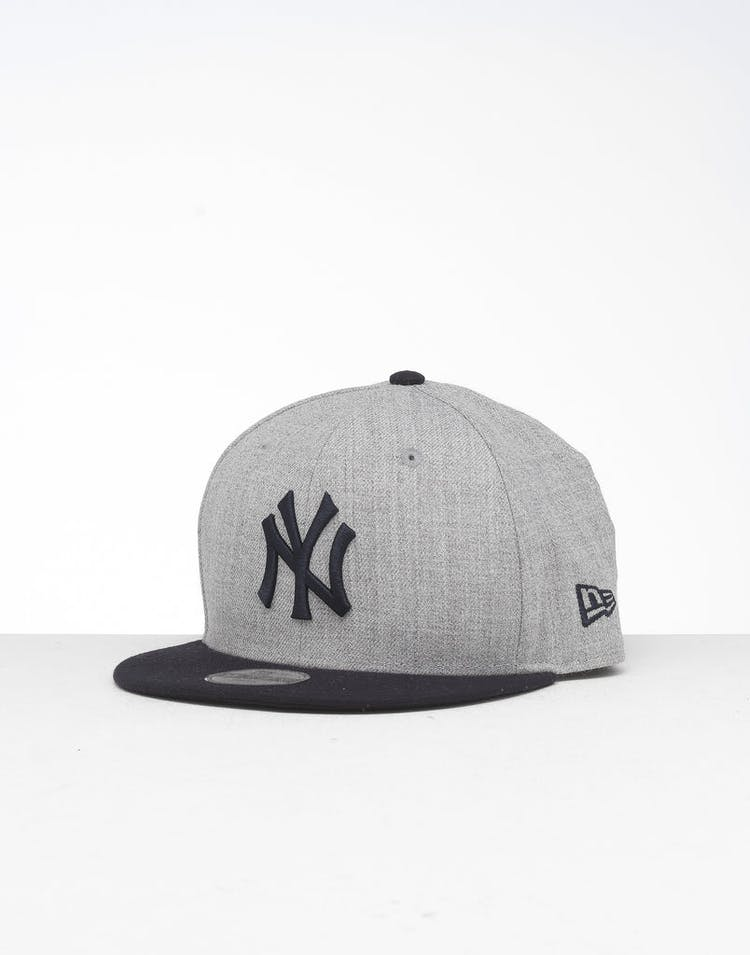 681ab6d2 New Era Youth New York Yankees 9FIFTY Snapback Heather Grey/Navy – Culture  Kings