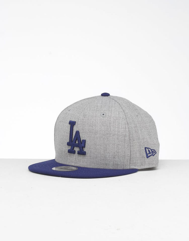 online retailer d47fe f616b New Era Youth Los Angeles Dodgers 9FIFTY Snapback Heather Grey Blue –  Culture Kings