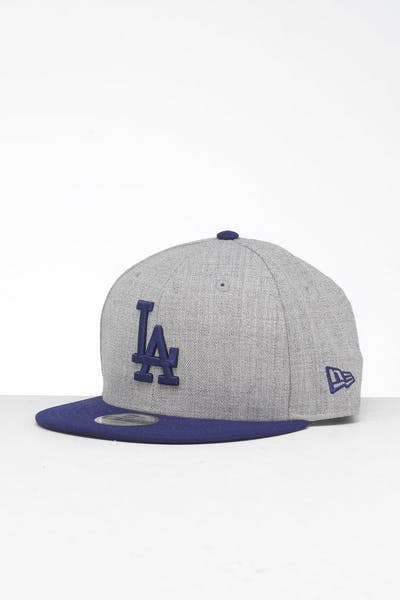 New Era Youth Los Angeles Dodgers 9FIFTY Snapback Heather Grey/Blue