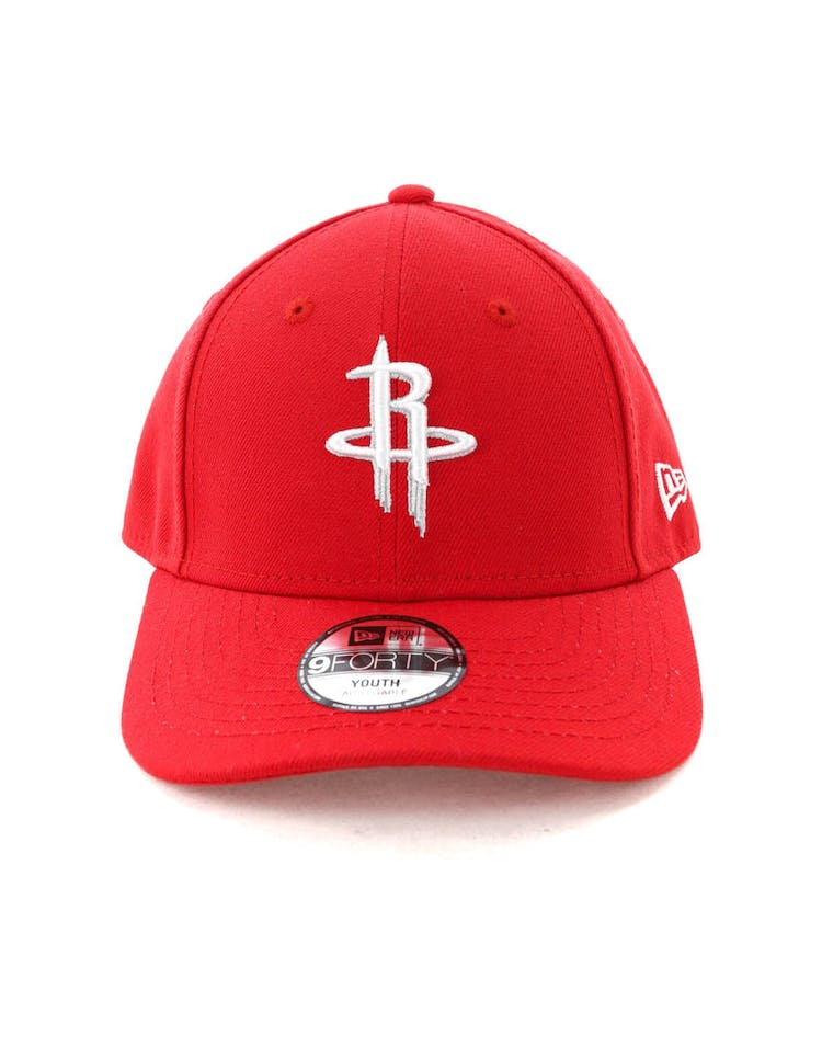 competitive price dd619 6d55b New Era Youth Houston Rockets 9FORTY H L Strapback Scarlet – Culture Kings