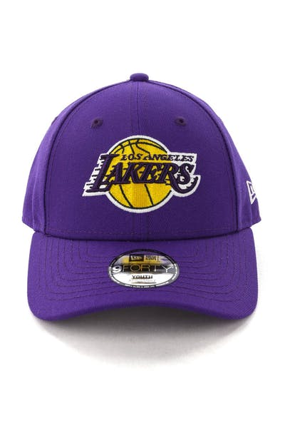 a3a6bdb7206 New Era Youth Los Angeles Lakers 9FORTY H L Strapback Purple