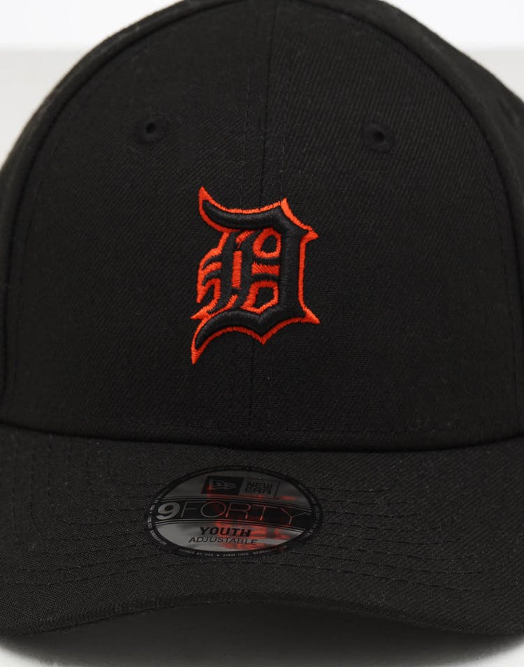 newest collection f1bee bf8ac New Era Youth Detroit Tigers 9FORTY Hook   Loop Black