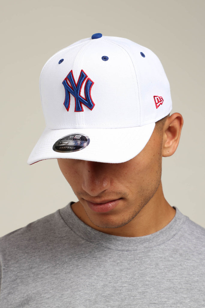 competitive price cb697 d523a ... switzerland new era new york yankees 9fifty precurved snapback white  royal red 1e05b 9bcc2