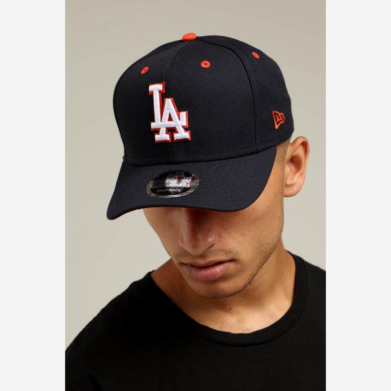 New Era Los Angeles Dodgers 9FIFTY Precurved Snapback Navy White Orang –  Culture Kings 7e86d090e5b2