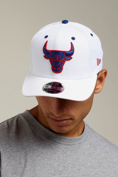 New Era Chicago Bulls 9FIFTY Precurved Snapback White Royal Red 7e45d8d5712