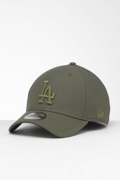 best authentic 7f168 4d6e6 New Era Los Angeles Dodgers 39THIRTY Stretch Fit Olive ...
