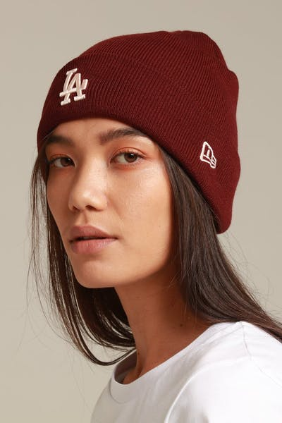 New Era Women's Los Angeles Dodgers 6Dart Cuff Knit Maroon