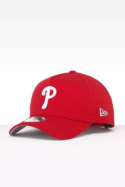 498800839620d New Era Philadelphia Phillies 9FORTY A-Frame Team Snapback Red