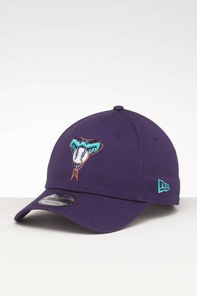 best website 6e796 c439a New Era Arizona Diamondbacks 9FORTY Retro Strapback Purple