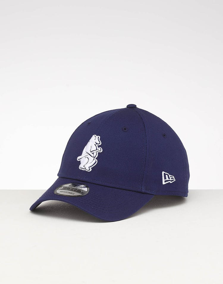 the latest cb6b0 21516 New Era Chicago Cubs 9FORTY Retro Strapback Navy – Culture Kings