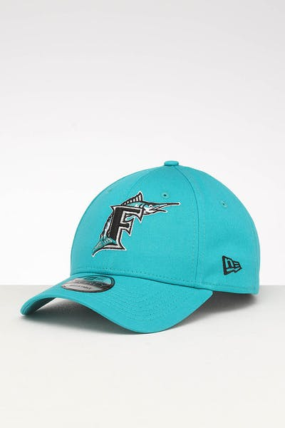 best service 60836 f0e9a New Era Miami Marlins 9FORTY Retro Strapback Teal