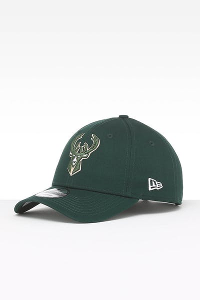 New Era Milwaukee Bucks 9FORTY Strapback Dark Green