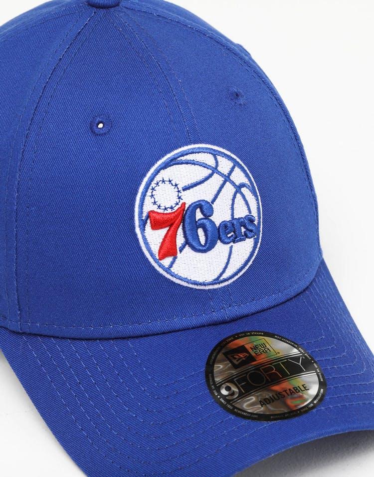 finest selection 5227e df229 New Era Philadelphia 76ers 9FORTY Strapback Blue