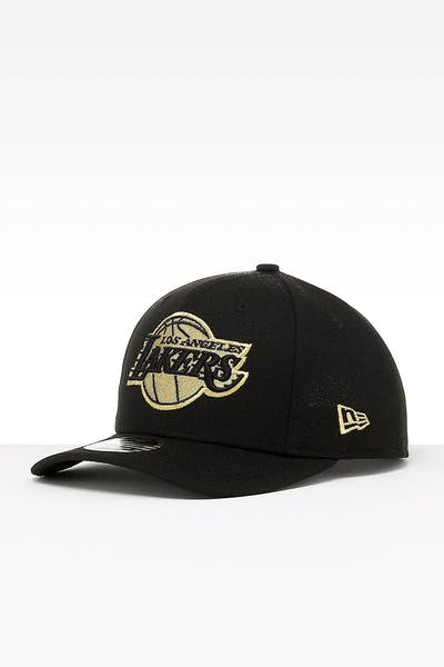 low priced 1ccf9 3fe63 New Era Los Angeles Lakers 9FIFTY Original PC Snapback Black Gold