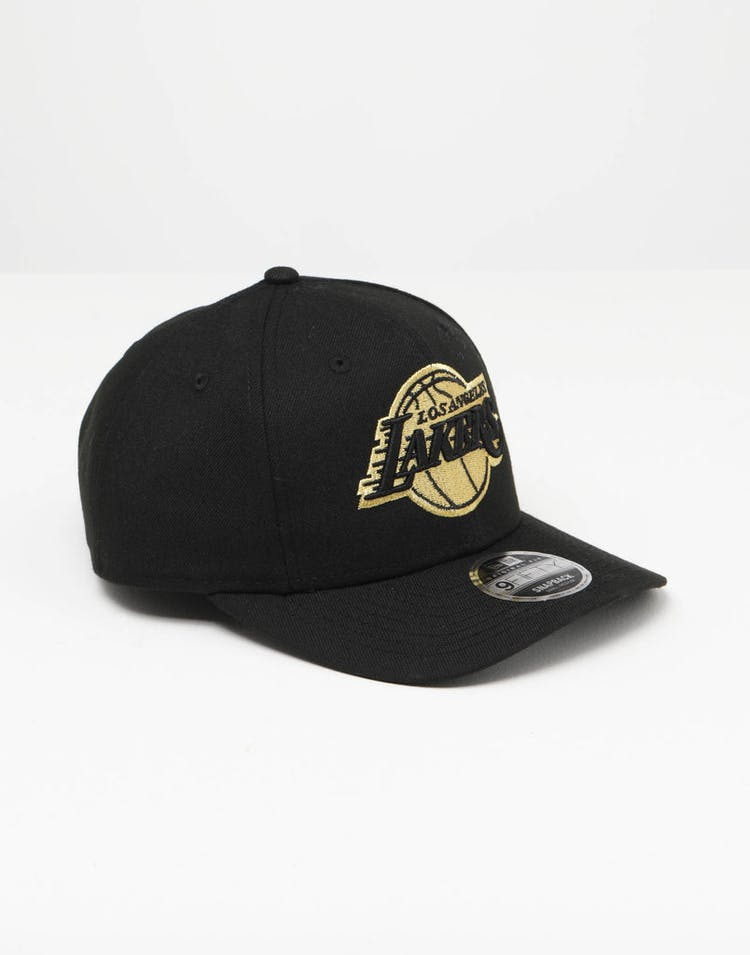 low priced 033d2 c21a2 New Era Los Angeles Lakers 9FIFTY Original PC Snapback Black Gold