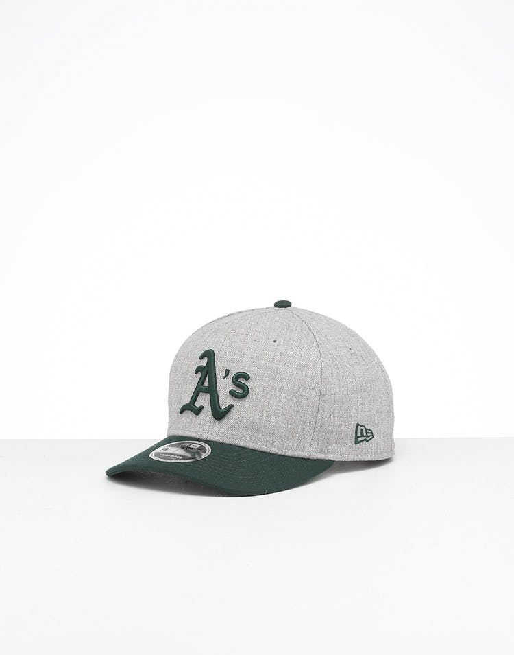 best sale outlet for sale official New Era Oakland Athletics 9FIFTY Precurved Snapback Heather Grey ...