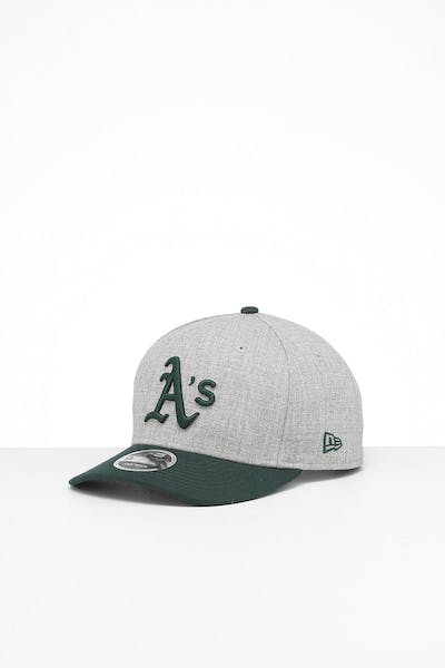 New Era Oakland Athletics 9FIFTY Precurved Snapback Heather Grey/Green