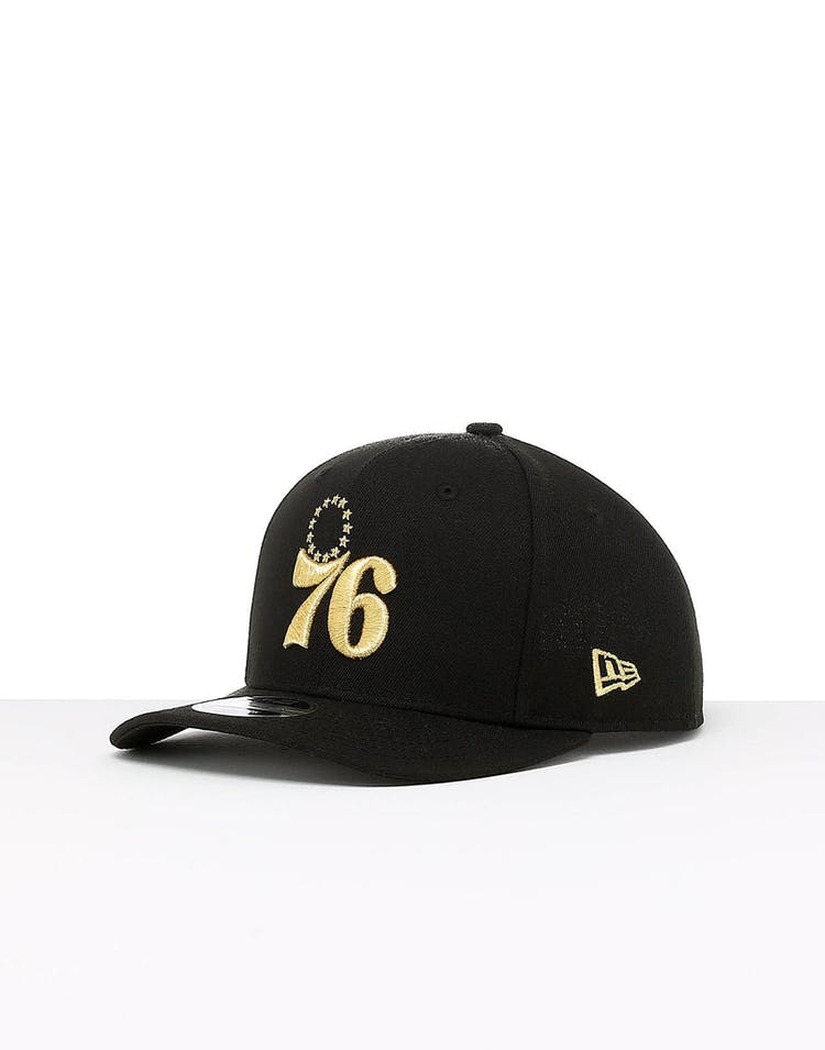 c33f6def1 New Era Philadelphia 76ers 9FIFTY Original PC Snapback Black/Gold