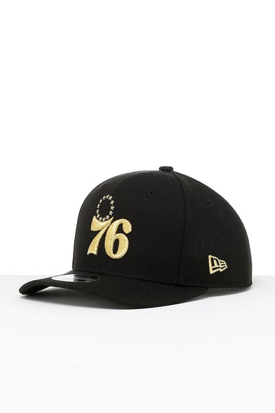 e138312596a388 New Era Philadelphia 76ers 9FIFTY Original PC Snapback Black/Gold