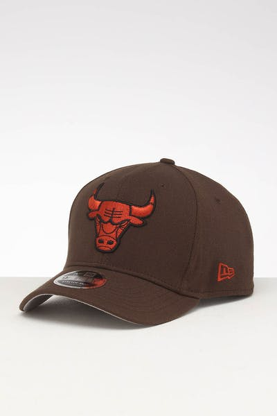 72e064c7d35aa New Era Chicago Bulls 9FIFTY Stretch Snapback Walnut