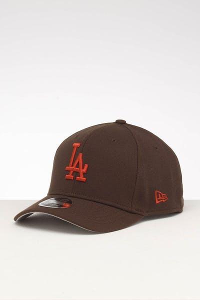 new concept 380e6 696ab New Era Los Angeles Dodgers 9FIFTY Stretch Snapback Walnut
