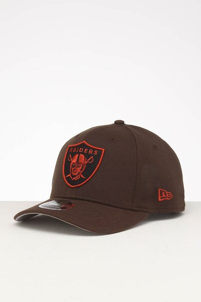 New Era Raiders 9FIFTY Stretch Snapback Walnut