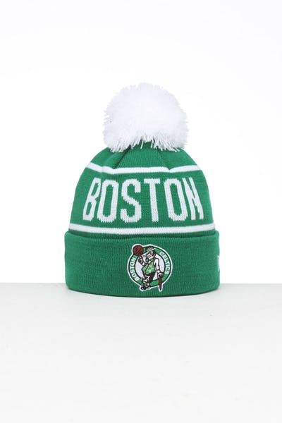 New Era Kids Boston Celtics 6Dart Pom Knit Kelly Green